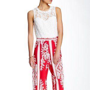 Soieblue Red White Colorblock Jumpsuit NWOT Sz S
